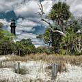 Hunting Island Lighthouse by Erika Fawcett
