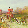 Hunting Scene by Heywood Hardy
