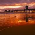 Huntington Beach At Sunset by Don Hammond