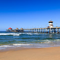 Huntington Beach Pier In Orange County California by Paul Velgos