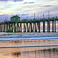 Huntington Beach Pier Panorama Colo by Rosanne Nitti