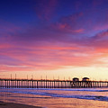 Huntington Beach Pier Sunset  by Anna Floridia