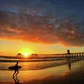 Huntington Beach Pier Sunset by Braden Moran