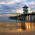 Huntington Beach Pier Sunset by K D Graves