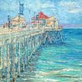 Huntington Beach Pier by Yoko Collin