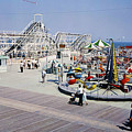 Hunts Pier On The Wildwood New Jersey Boardwalk, Copyright Aladdin Color Inc. by Retro Views