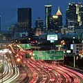 Hustle And Bustle Of Atlanta Roadways by Frozen in Time Fine Art Photography