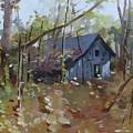 Hut In Woods by Mei  He