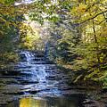 Huyck Preserve Falls by George Fredericks