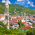 Hvar Architecture And Nature Vertical View by Brch Photography