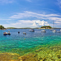 Hvar Yachting Beach Panoramic View by Brch Photography