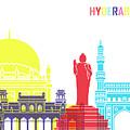 Hyderabad Skyline Pop by Pablo Romero