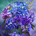 Hydrangea Bouquet - Square by Carol Cavalaris