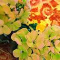 Hydrangeas And Swirls by Desiree Paquette