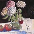 Hydrangeas Apples And Wine by Joseph Stevenson