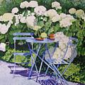 Hydrangeas At Angele by Gail Chandler
