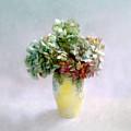 Hydrangeas In Autumn Still Life by Louise Kumpf