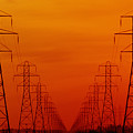 Hydro Power Lines And Towers by Mike Grandmailson