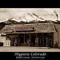 Hygiene Colorado Bw Fine Art Photography Print by James BO Insogna