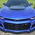 Hyper Blue Metallic 2017 Chevrolet Camaro Zl1 by Roger Fink