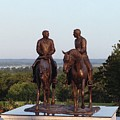 Hyrum And Joseph Smith Equestrian Bronze Monument At Nauvoo Illinois by Kim Corpany