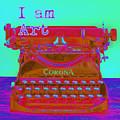 I Am Art Typewriter by David Hinds