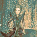 I Am Siamese In Teal by Jayne Somogy