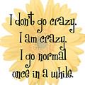 I Don't Go Crazy by Rachel LaDuke