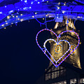 I Heart Boston Ma Christopher Columbus Park Trellis Lit Up For Valentine's Day by Toby McGuire