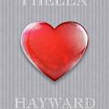 I Hella Love Hayward Ruby Red Heart On Gray Flannel by Kathy Anselmo
