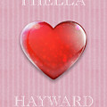 I Hella Love Hayward Ruby Red Heart On Pink Flannel by Kathy Anselmo