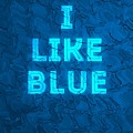 I Like Blue by Colour Papers
