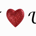 I Love You Sign On White Background by Sami Sarkis