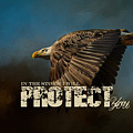 I Will Protect You - Bald Eagle Art by Jai Johnson