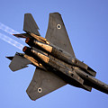 Iaf F15i Fighter Jet On Blue Sky by Nir Ben-Yosef
