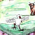 Ibis Hopping by Carol Allen Anfinsen