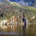 Ice Cliff In Autumn by Barbara Griffin