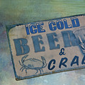 Ice Cold Beer And Crabs - Looks Like Summer At The Shore by Mitch Spence