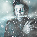 Ice Cold Winter Man In A Freeze Of Snow And Frost  by Jorgo Photography - Wall Art Gallery