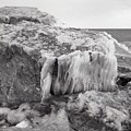 Ice Covered Rocks  by Lyle Crump