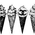 Ice Cream Black ,chanel by Del Art
