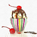 Ice Cream Sundae Pencil by Edward Fielding