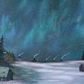 Ice Fishing Huts by Rebecca  Fitchett
