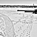 Ice Fishing On Lake Michigan by Barbara Budish