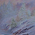 Ice Fog In The Forest by Joanne Smoley