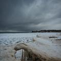 Ice Formations At Cawaja Beach by David Hook