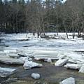 Ice Jam On The Isinglass River Barrington Nh by Chet Wheeler