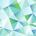 Ice Shards Abstract Geometric Angles Pattern by Tina Lavoie