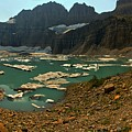Icebergs Below Grinnell Glacier by Adam Jewell
