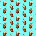 Iced Coffee To Go Pattern by Little Bunny Sunshine